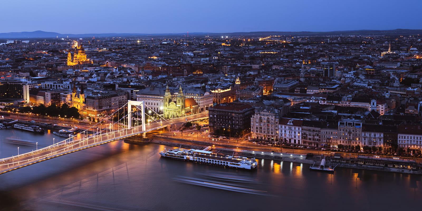 Budapest in twilight