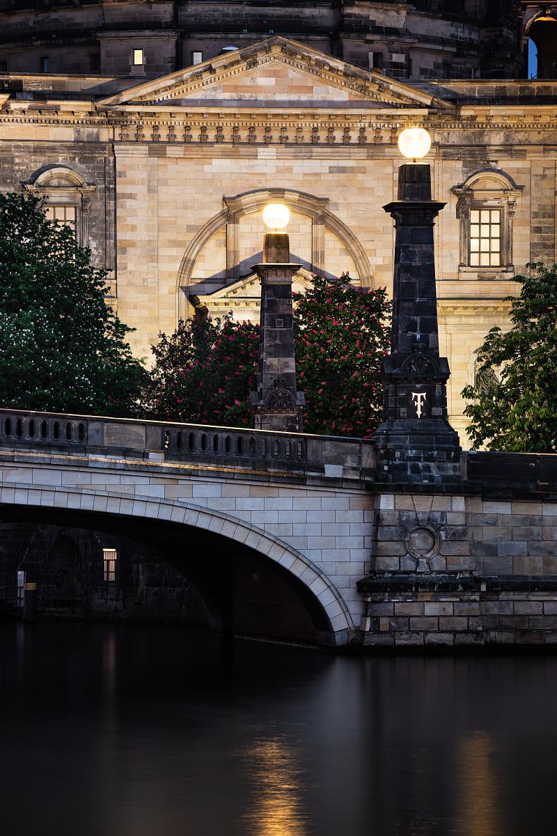 Friedrichs Bridge and Berliner Dom detail