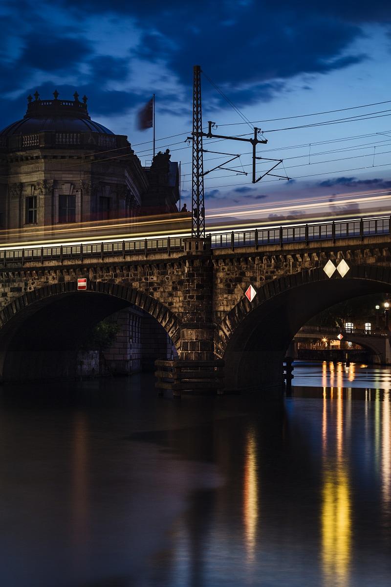 Railway bridge in front of Bode Museum