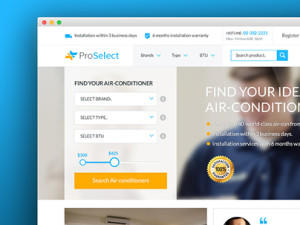 ProSelect - Aircon and Appliances Ecommerce website