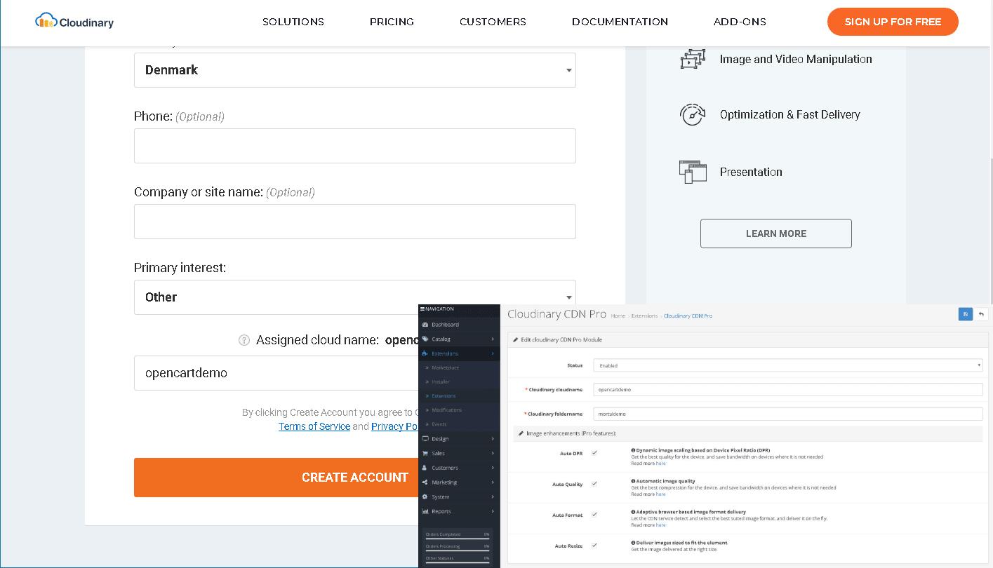 Opencart Cloudinary setup guide