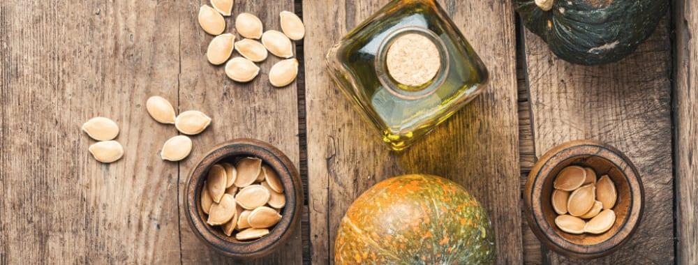 Pumpkin seed oil & Peppermint for hair growth   Haircare Remedies