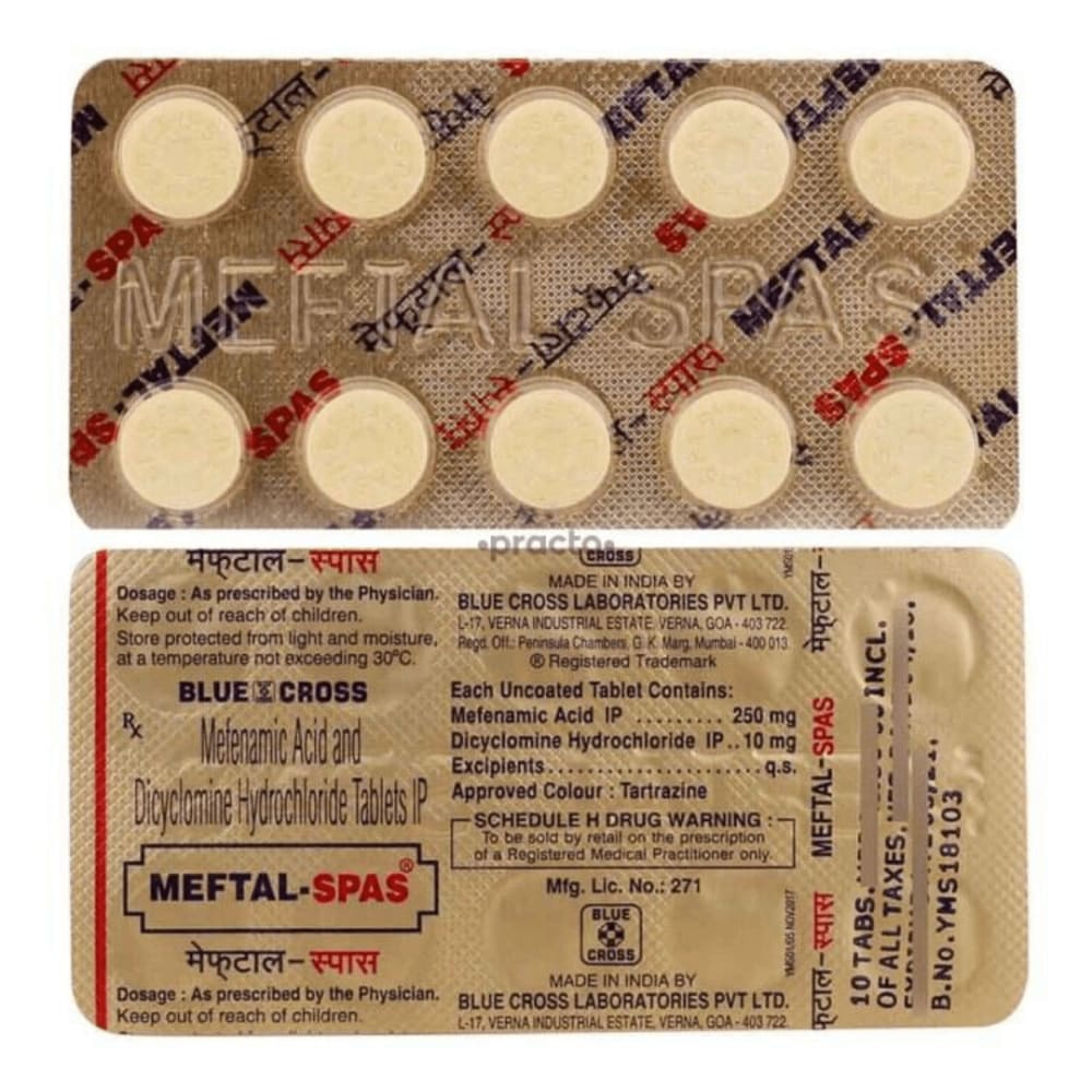 Meftal Spas: Uses, Benefits, Side Effects, Precautions & More