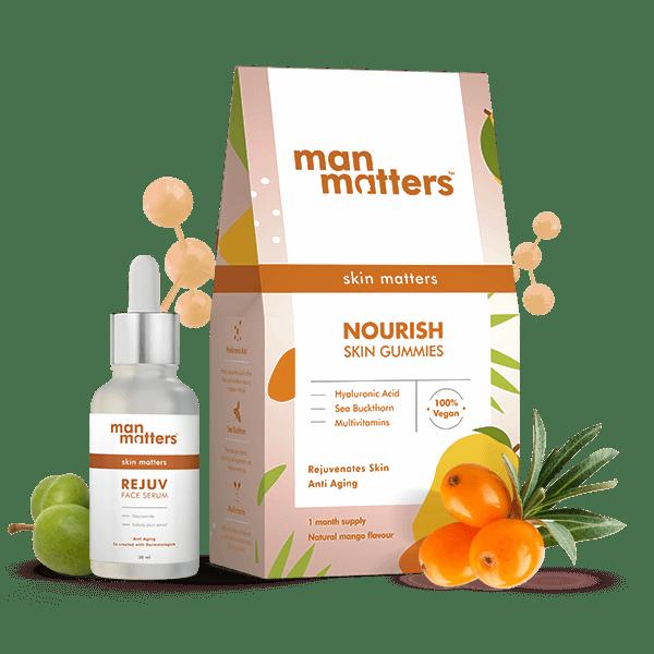 Skin vitamins and Vitamin C and Niacinamide serum for face