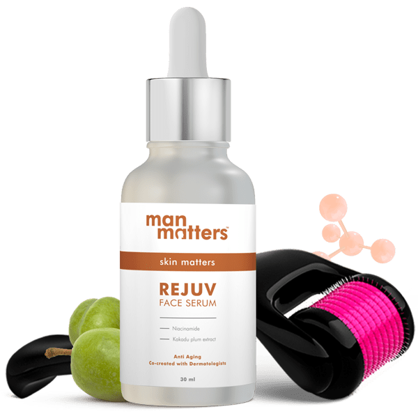 Vitamin C and Niacinamide serum with derma roller for face