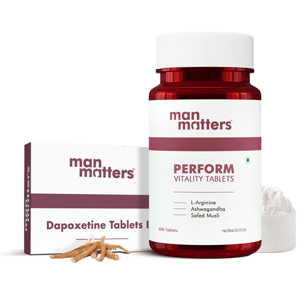 Dapoxetine Tablets and PERFORM Vitality Energy Boosting Tablets