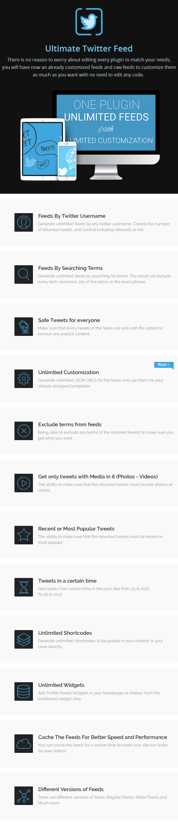 Ultimate Twitter Feed Pro - Unlimited Customized Twitter Feeds 3