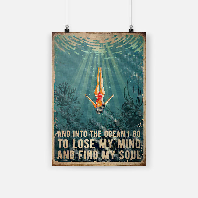 Details about  /Swimming Into The Ocean I Go To Lose My Mind /& Find My Soul Portrait Poster