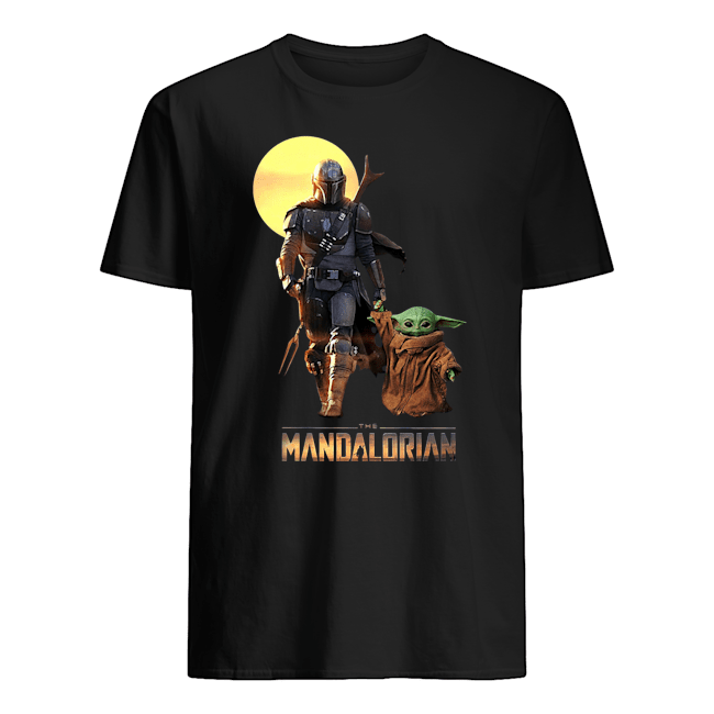 The Mandalorian Boba Fett and baby Yoda Star Wars Men's T-Shirt