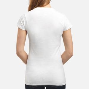 Women's V-Neck T-Shirt back