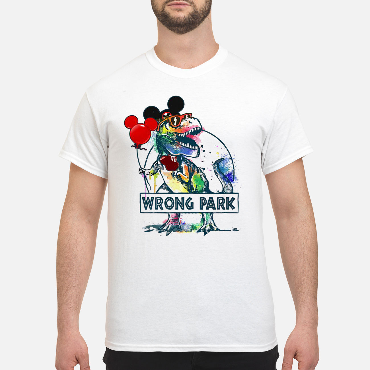 c4669387d Dinosaur T-rex and Mickey mouse wrong park shirt