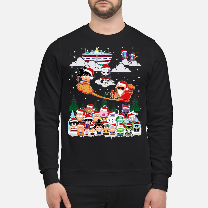 Chibi Dragon Ball Z Characters Ugly Christmas Sweater