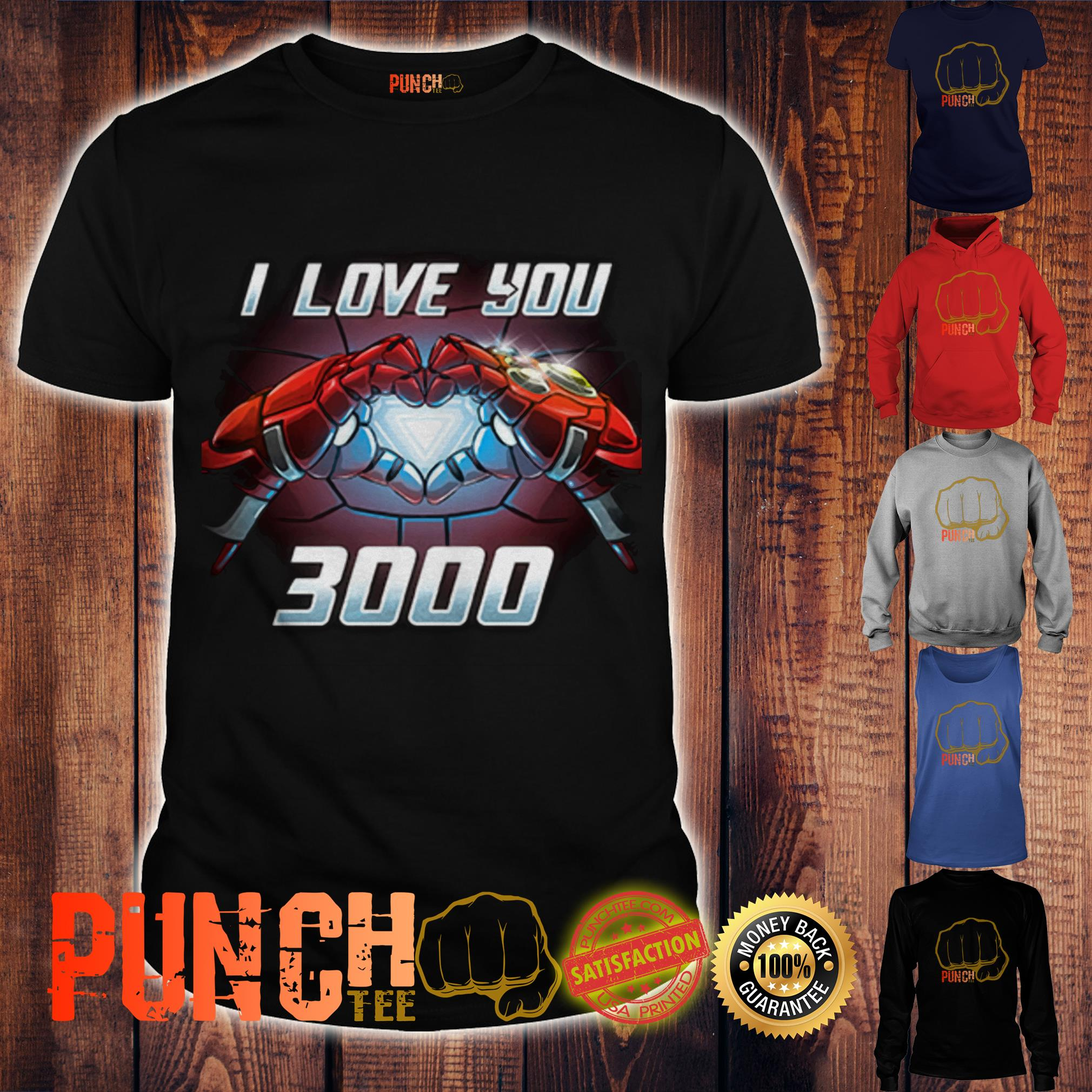 66b4e234de I am Iron Man I love You 3000 times shirt