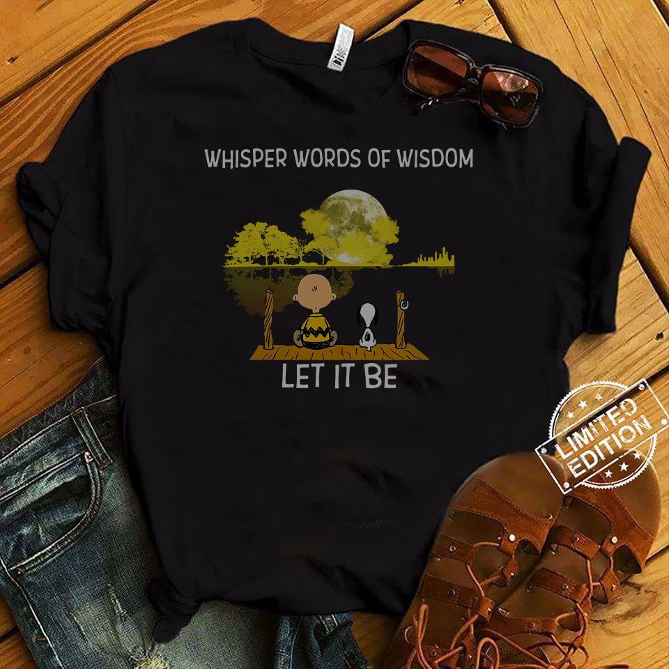 Whisper Words Of Wisdom Let It Be Guitar Lake Shadow Snoopy