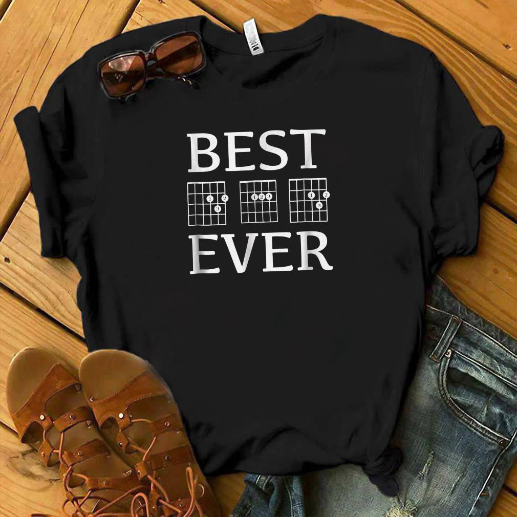 Mens Best Dad Ever Guitar Player Dad Chords Fathers Day shirt