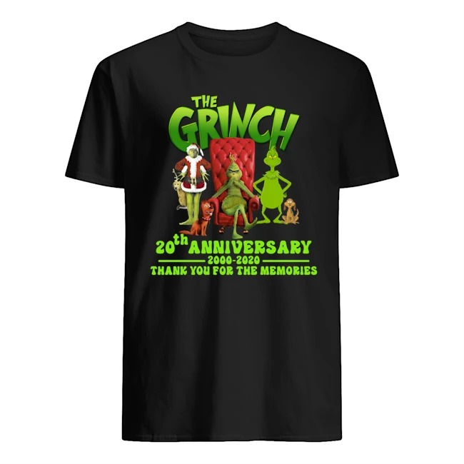 The Grinch 20th anniversary thank you for the memories shirt