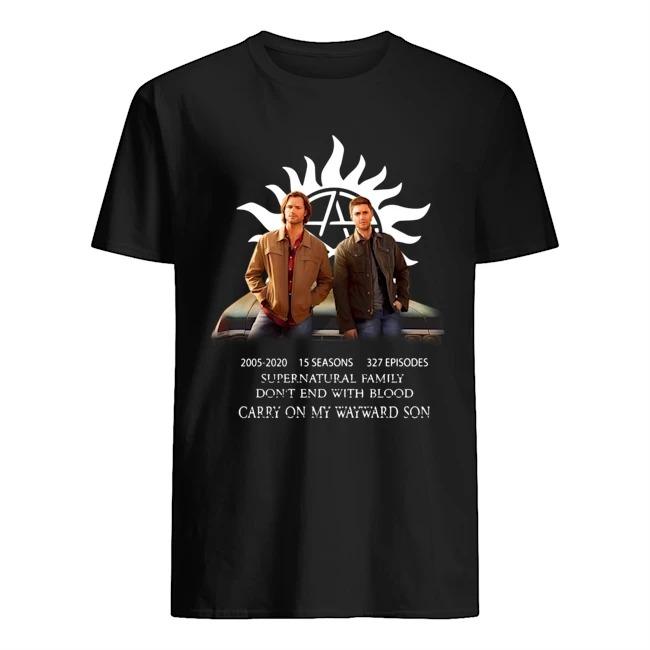 Supernatural Family 15th Anniversary Dean Sam Fan art shirt