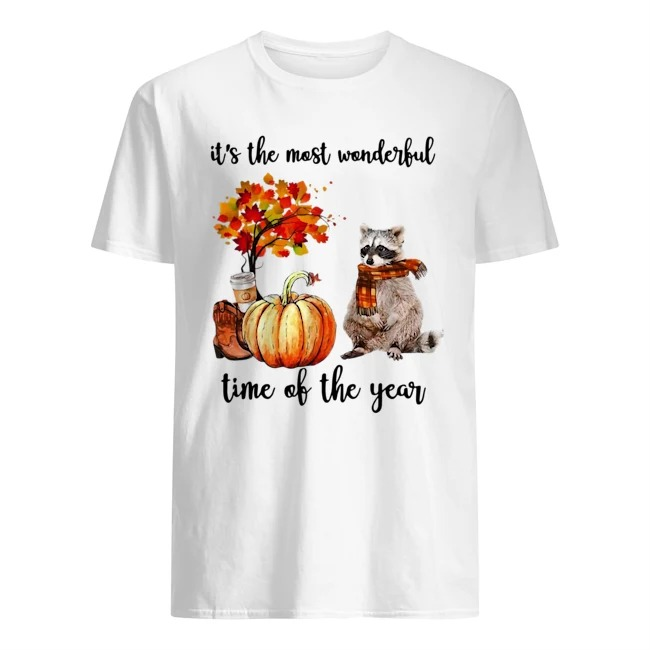 Raccoon it's the most wonderful time of the year shirt