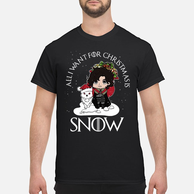 All want for christmas is Snow GOT shirt