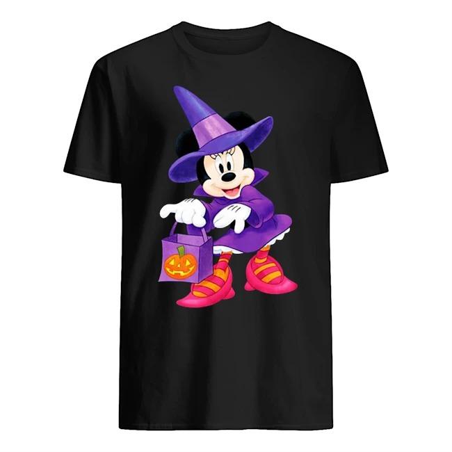 Nice Disney Halloween Minnie Mouse Trick or Treating shirt