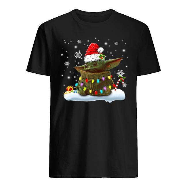 Baby Yoda Light Christmas Is Coming Shirt