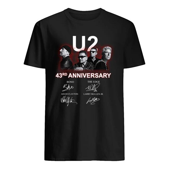 U2 43rd Anniversary Signatures Shirt