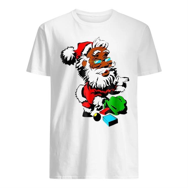 African American Santa Claus Christmas Sweater