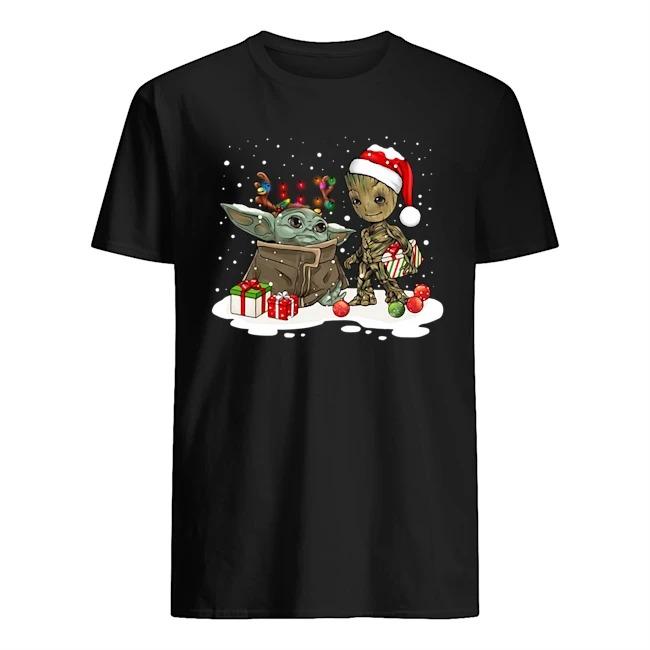 Santa Baby Yoda and Groot reindeer Ugly Christmas shirt