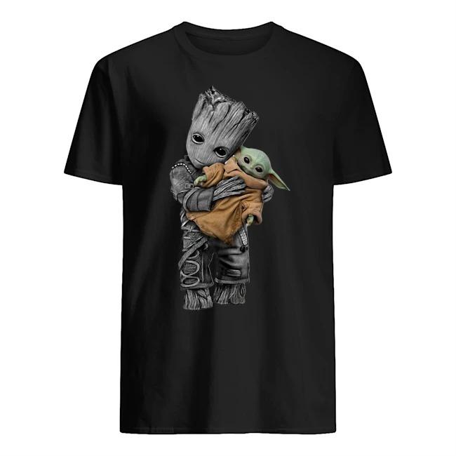 Groot Hug Baby Yoda Shirt
