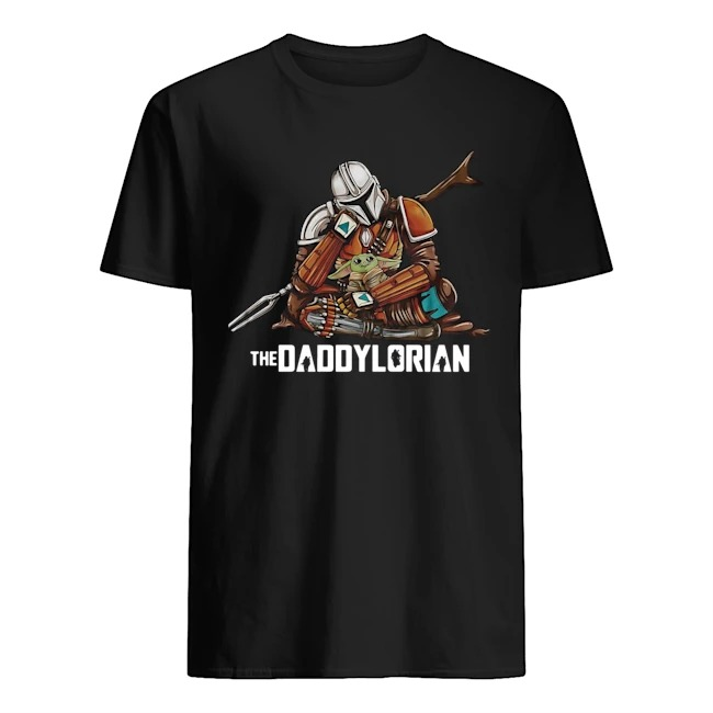 The Daddylorian The Mandalorian Hug Baby Yoda Shirt