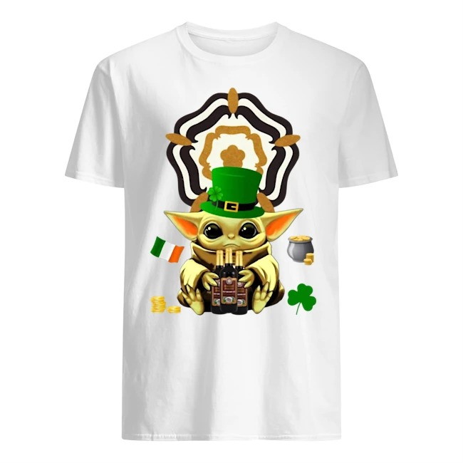 Baby Yoda Hug Samuel Smith's Nut Brown Beer St Patrick's Day Shirt
