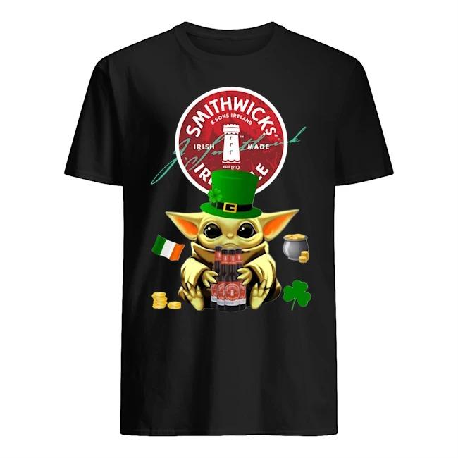 Baby Yoda Hug Smithwick's Irish Red Beer St Patrick's Day Shirt
