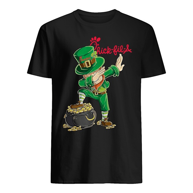 Dabbing Leprechaun Chick Fil A St. Patrick's Day Shirt