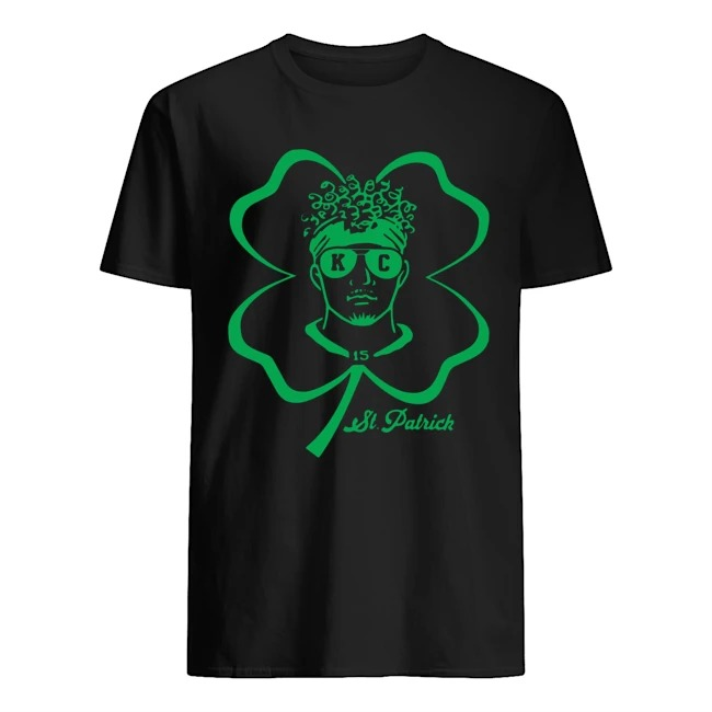 15 Patrick Mahomes Kansas City Chiefs St. Patrick_s day shirt