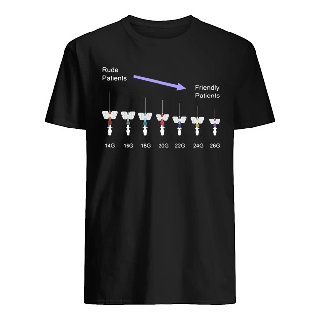 Rude patients friendly patients shirt
