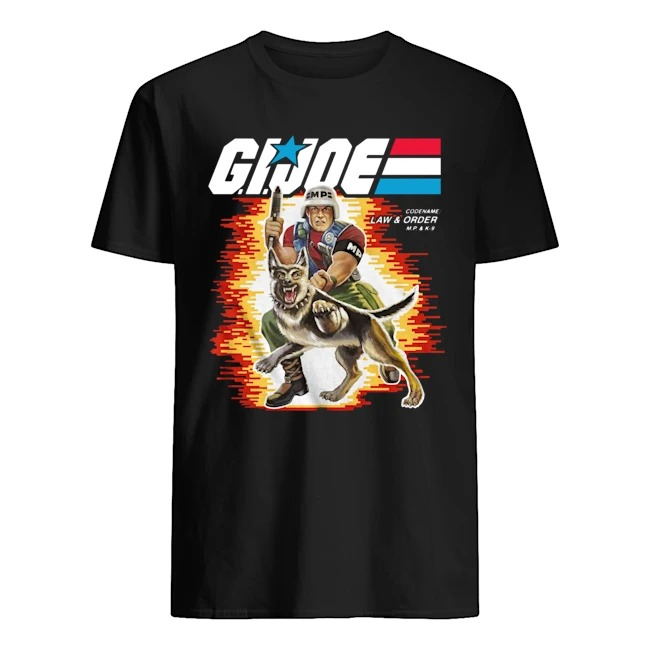 Box Art Law and Order GI Joe Shirt