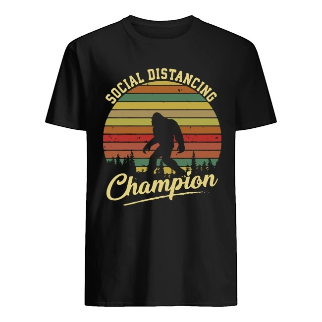 Bigfoot Social Distancing Champion Vintage shirt