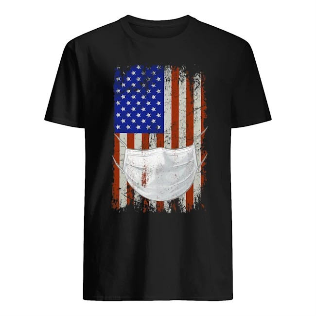 American flag Quarantined Corona Covid 2019 Shirt