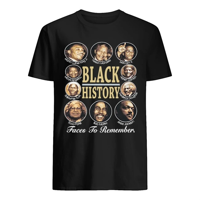 Black History Faces To Remamber Shirt
