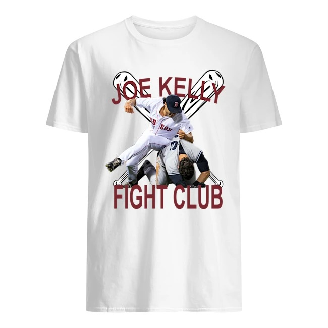 Boston baseball red Joe Kelly fight club fan shirt