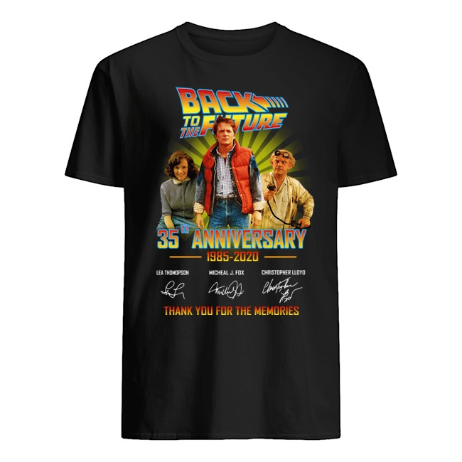 Back to the future 35th anniversary 1985-2020 signatures thank you for the memories shirt
