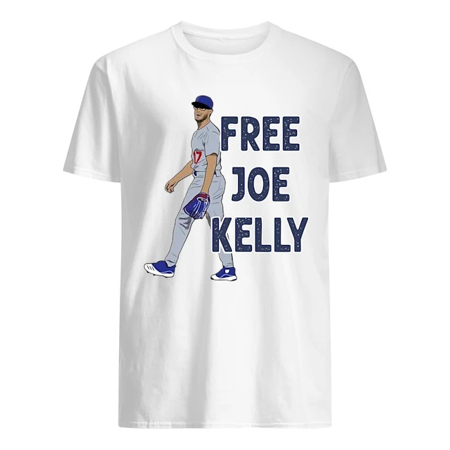 Free Joe Kelly baseball tee shirt