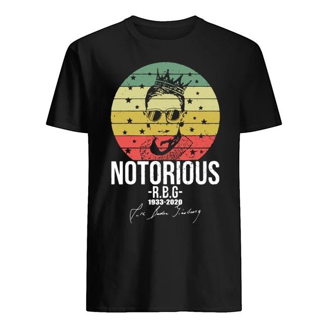 Ruth Bader Ginsburg notorious RBG 1933 2020 signature vintage shirt