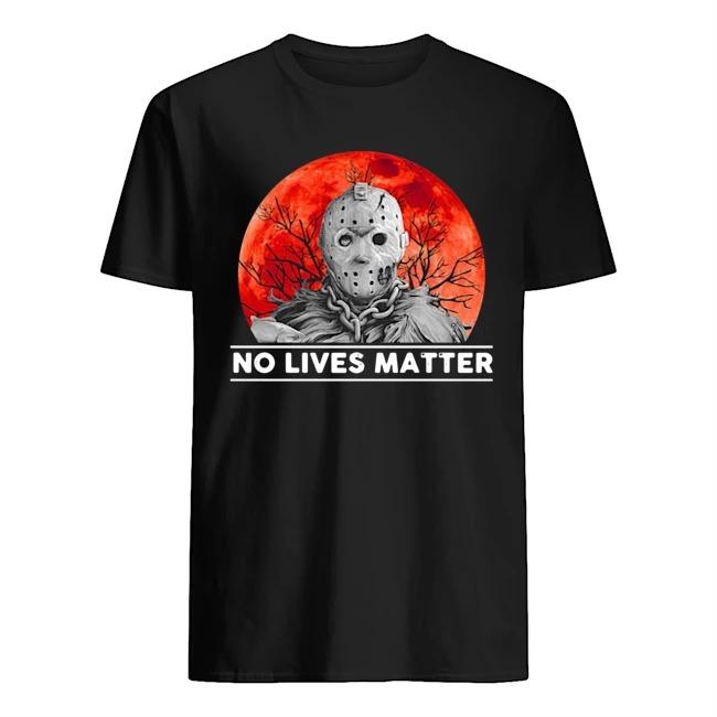 Jason voorhees no lives matter moon Halloween shirt
