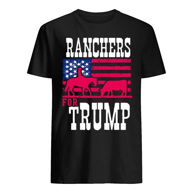 Ranchers For Trump Flag US Shirt