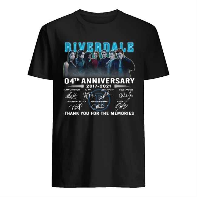 Riverdale 04th anniversary 2017-2021 thank you for the memories signatures shirt