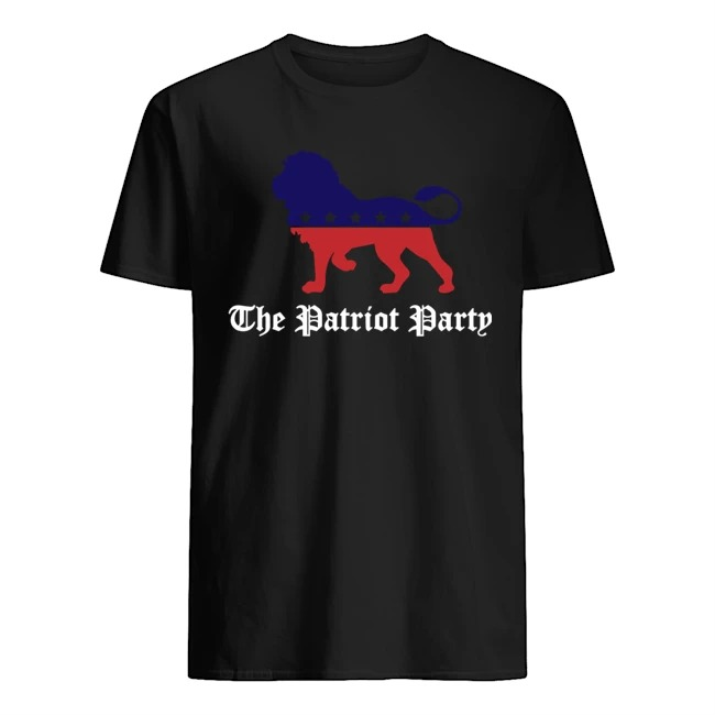 Lion the patriot party tee shirt