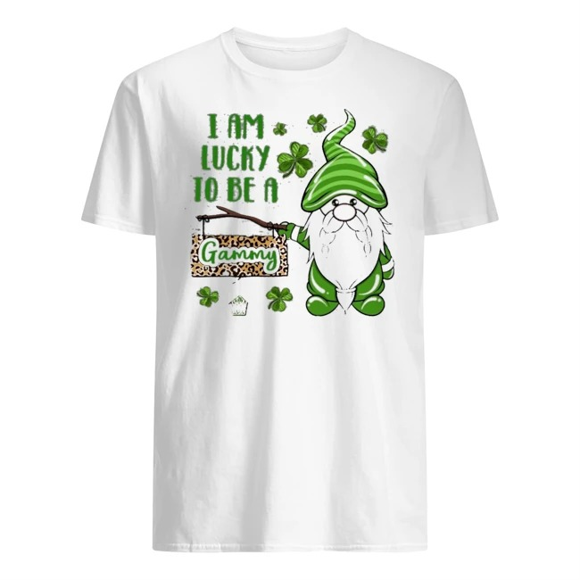 St Patrick Gnomes I Am Lucky To Be A Gammy Shirt