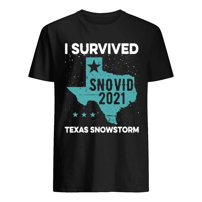 Original I survived snovid 2021 Texas snowstorm shirt
