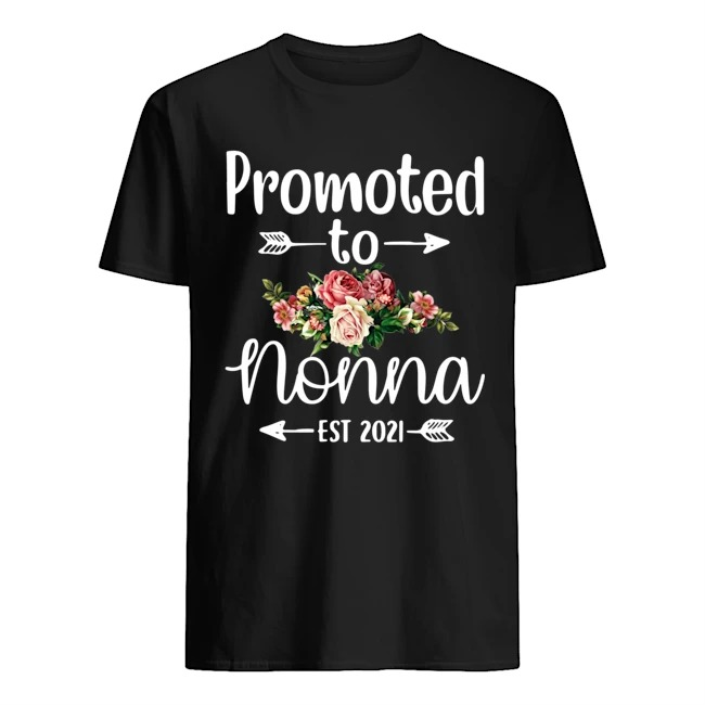 Promoted to nonna est 2021 floral shirt